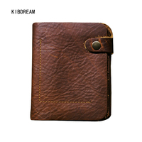 KIBDREAM 2017 Autumn New Korean Version Of The First Layer Of Leather Men's Retro Short Wallet Free Shipping