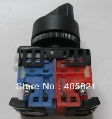 1N/O+1N/C Standard Handle Knob 2Position Select Selector Push Button Switch AR22PR-2 -11B Mouting Hole 22mm