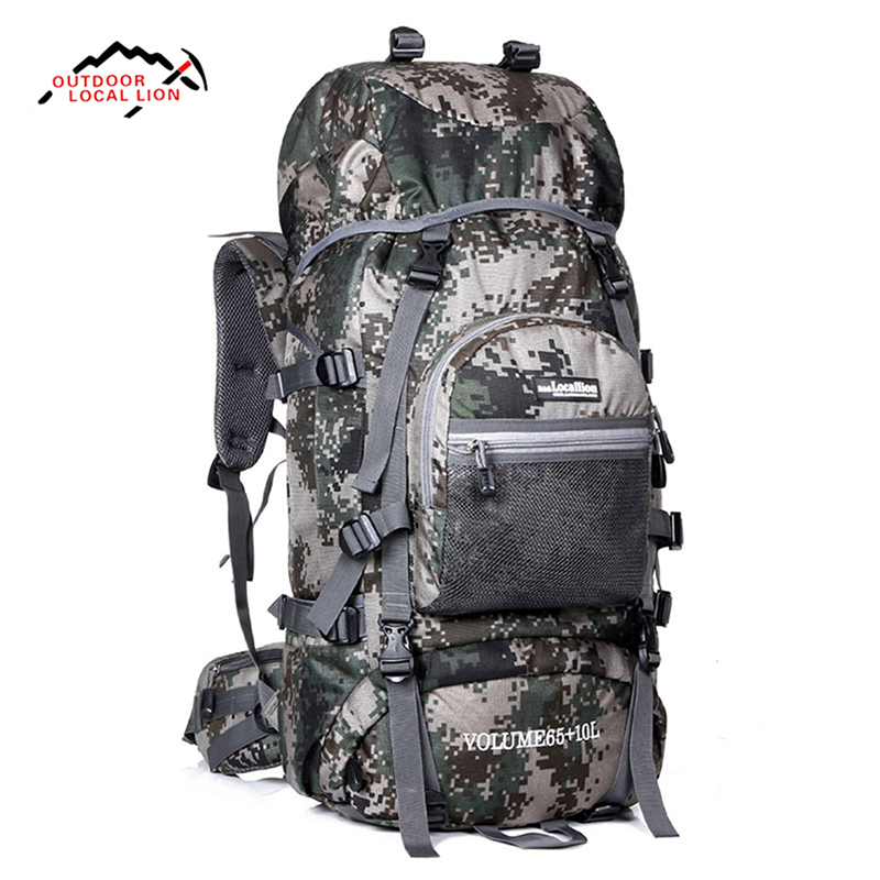LOCAL LION 75L Large Capacity Waterproof Outdoor Hiking Backpack Camping Travel Climbing Bag Pack Women Men Sport Backpack