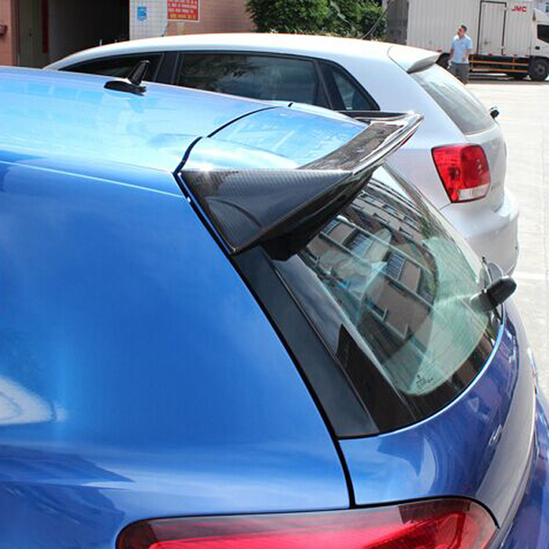 Pour VW Volkswagen Scirocco Spoiler 2009-2014 décoration d'aile de queue de voiture noir fibre de carbone aileron de toit de coffre arrière (pas pour R)