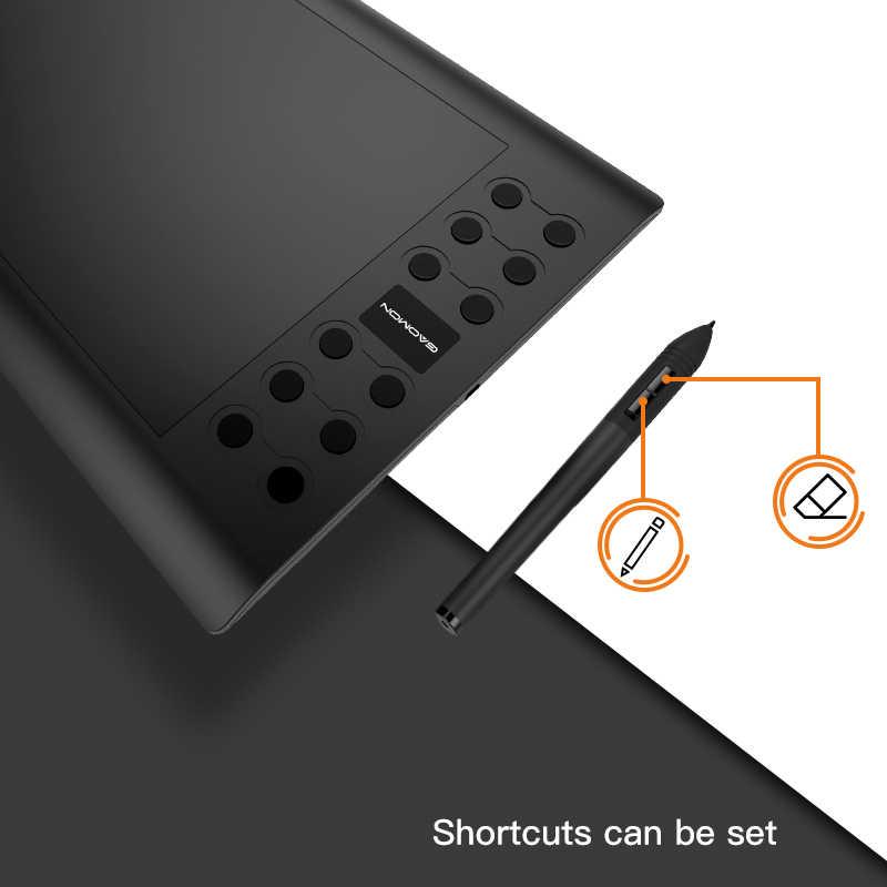 GAOMON M106K-Chuyên Nghiệp 10 Inch Máy Tính Bảng Đồ Họa cho Vẽ với USB Nghệ  Thuật Kỹ Thuật Số Máy Tính Bảng 2048 Cấp