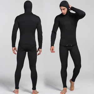 Image 1 - New 3mm Neoprene Diving Suit For Men Swimming Surfing Jump Suit Surfacing Warm Wetsuit Suspender Trousers And Jacket 2pcs/set