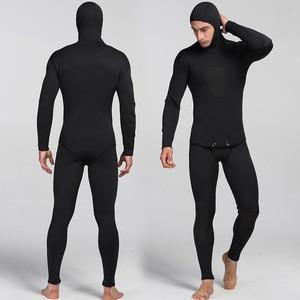 Image 1 - Traje de buceo de neopreno para hombre traje de salto de neopreno cálido para surf, pantalones con tirantes y chaqueta, 2 unidades