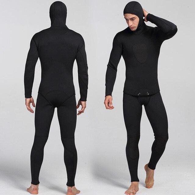 Traje de buceo de neopreno para hombre traje de salto de neopreno cálido para surf, pantalones con tirantes y chaqueta, 2 unidades
