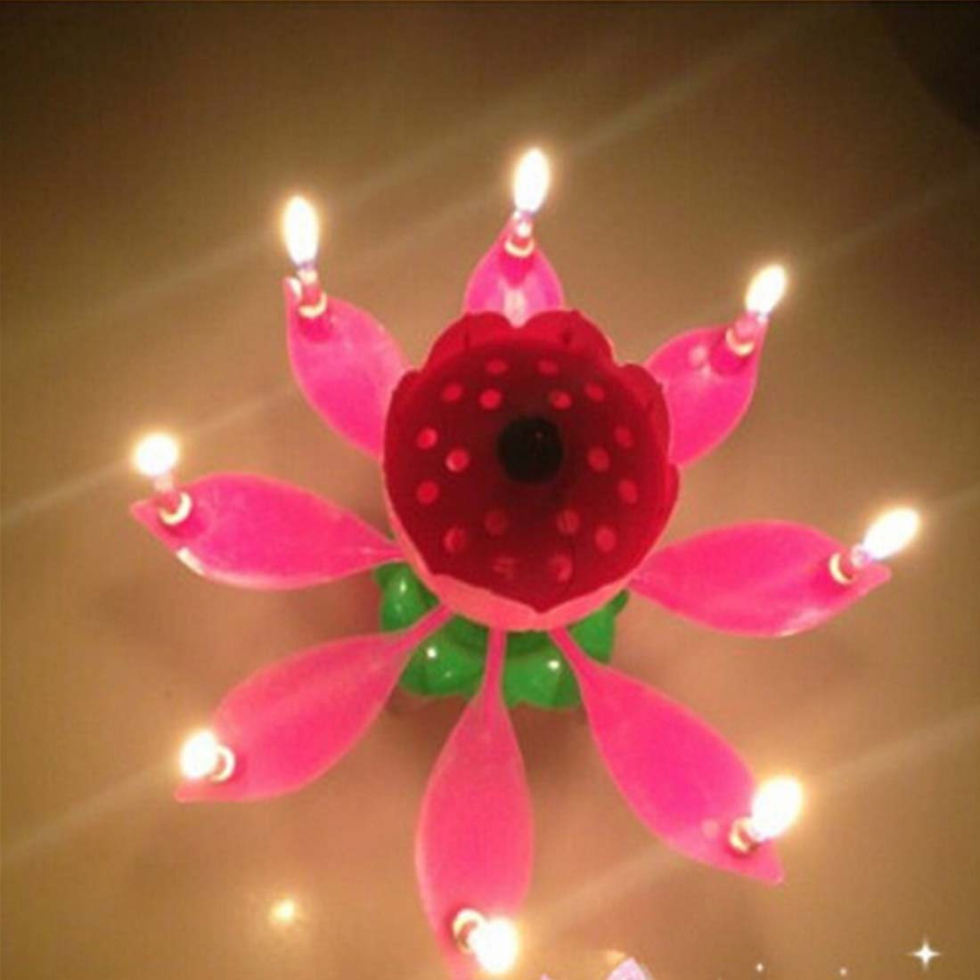 Birthday Candle Musical Lotus Flower Candles Happy Birthday Candles