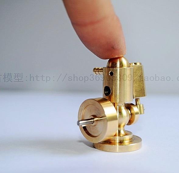 brass  Steam Engine model  boiler micro Engine model  Steam propulsion Live SteamEngine horizontal double cylinder steam engine model