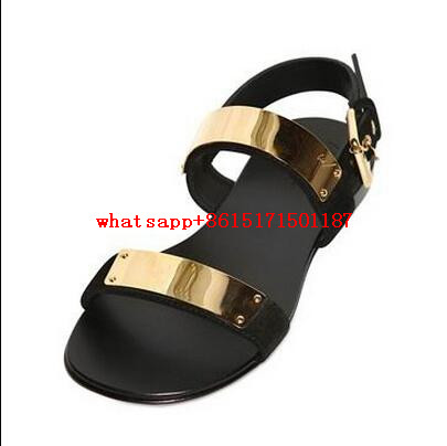 fa161b80350a0 2017 Leather New Casual Men sandals Same Star Slippers Summer Buckle Shoes  Long Rivets Coved Flip Flops -in Men's Sandals from Shoes on Aliexpress.com  ...