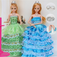 12 Moveable Joint Body Princess Babe Doll 30cm 11 Wedding Design Dress Suite Kids Toy Brinquedo
