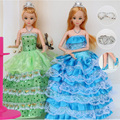 "12 Moveable Joint Body Princess Babe Doll 30cm 11"" Wedding Design Dress Suite Kids Toy Brinquedo Girl Gift"
