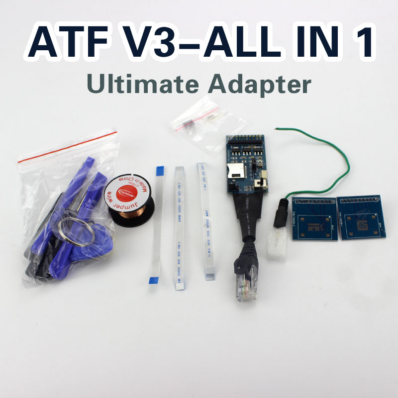 100% Original product ATF box JTAG/EMMC/ISP/MMC CARD ATF-V2 All in 1 Ultimate Adapters For ATF BIG BOX/Nitro/Lighting cable