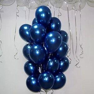 Image 1 - 30 個 5/10/12 インチインクブルーラテックス風船ダークブルーヘリウム気球誕生日結婚式の装飾パーティーバルーン用品グロボス