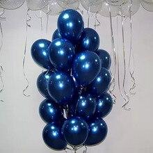 30 Uds. De Globos de látex azul de tinta de 5/10/12 pulgadas, globo de helio azul oscuro, suministros de Globos de fiesta para decoración de bodas y cumpleaños