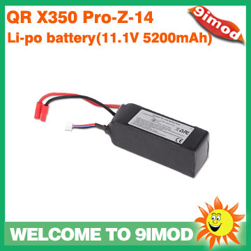 ФОТО Walkera  Quadcopter QR X350 PRO Spare Parts QR X350 PRO-Z-14 Li-po battery(11.1V 5200mAh ) for RC Drone