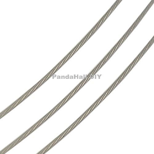 0.45mm Silver Tiger Tail Wire Spool Stainless Beading Wire Jewelry Findings about 50m/roll, 10 Rolls/lot