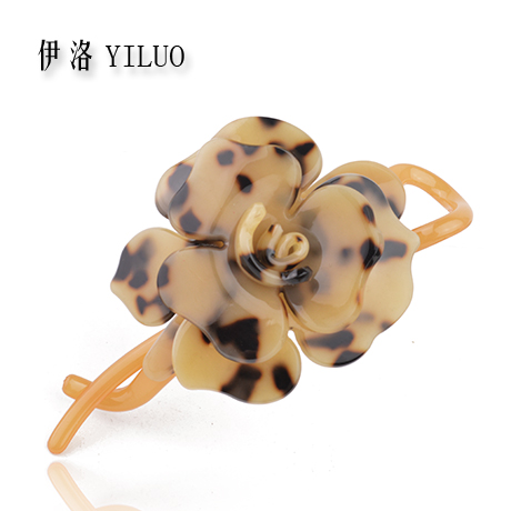 High Quality Classic Bolossom Rose Leopard Print Acetate Hair Clip 11cm Long FREE SHIPPING beautiful classic hair brown and auburn lightspot fashion hair lady wig short hair high quality free shipping