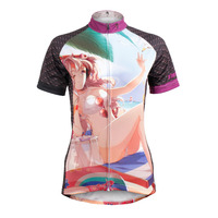 Women Beach Time Short Sleeve Cycling Jerseys Breathable Bike / Bicycle Shirts Polyester Breathable Cycling Clothing Size XS 6XL
