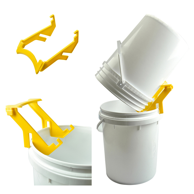 DLKKLB 1 Pcs Honey Bucket Bracket High Quality Hot Sales Beekeeping Tool Yellow Honey Tank Plastic Honey Pail Stand Support