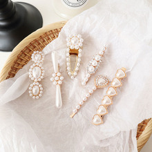 2019 New Crystal Heart Love Imitation Pearl Hair Clips For Women Fashion Hair Jewelry Rhinestone Flower Hairpins Barrettes Gifts цены
