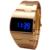 2016 Digitaces de La Moda Hombres de Los Relojes Led Completo aleación de Oro Reloj Masculino Militar llevó el Reloj de Pulsera de Cuarzo Reloj Deportivo Relogio masculino
