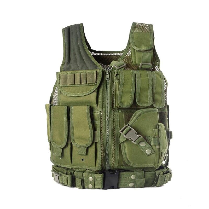 Gilet tactique militaire de Police gilet de chasse de tenue de sport d'armure de corps de Wargame CS gilet extérieur d'équipement de produits avec 5 couleurs - 2