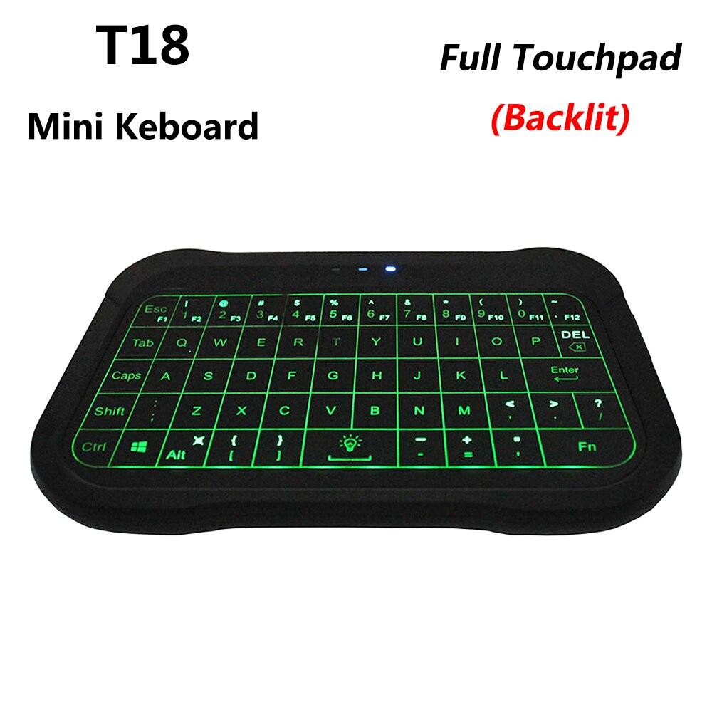 New Workstation Keyboard 2019 : 2019 new t18 2 4g mini wireless keyboard backlit air mouse with full touchpad smart remote ~ Vivirlamusica.com Haus und Dekorationen