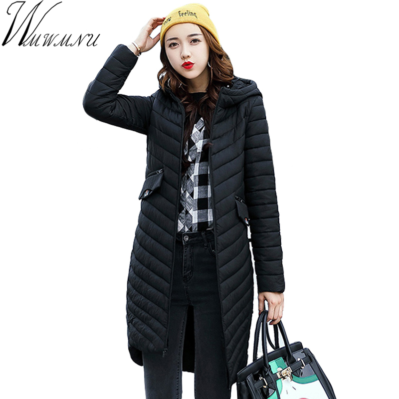 Ukraine New Wmwmnu Brand 2017 Hooded Jacket Women Fashion Slim Embroidered Long Thin Clothing Spring Autumn Casual Coats