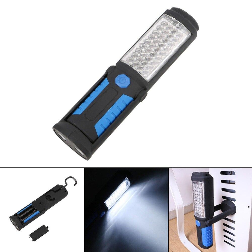Super Lumineux Portable Lumière 36 + 5 LED Flexible Main Torche Travail Lumière Magnétique Inspection Lampe lampe de Poche Torche Alimenté Par Batterie