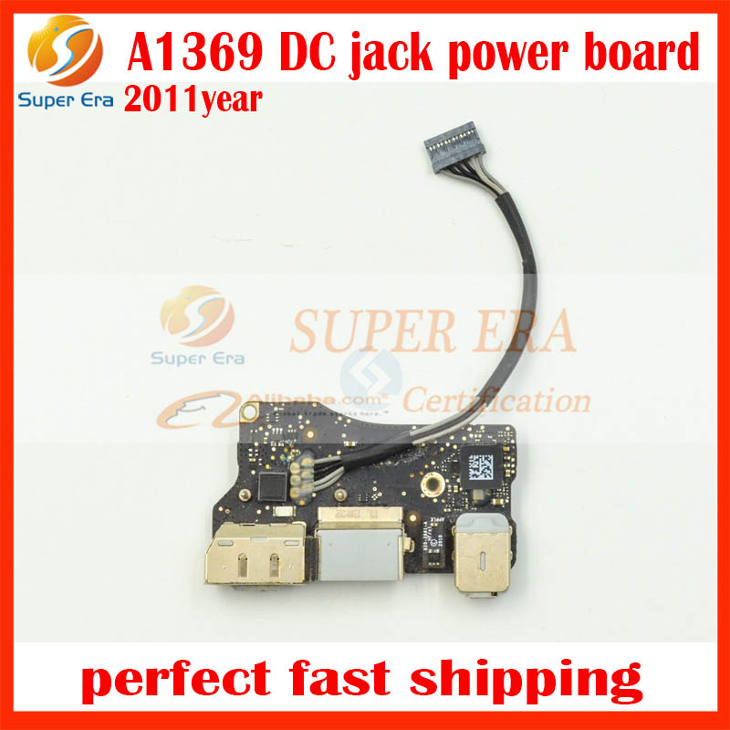Genuine 2011 Year 820-3057-A for MacBook Air 13.3 A1369 DC I/O Power Board USB Port Audio Jack MC965 MC508 EMC 2469 for macbook air usb i o audio board 820 3213 a 11 laptop a1465 power dc jack md223 md224 2012