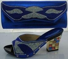 2017 neue Mode Italienische Schuhe Mit Passenden Taschen Set Afrikanische Schuhe und Taschen Für Hochzeit Schuh Und Tasche Set Entsprechen ME2217