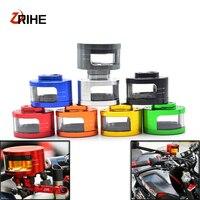 Universal Motorcycle Brake Fluid Reservoir Oil Tank with mounting kit For Honda CBR 600F 600RR 900RR 929RR 1000RR 954RR