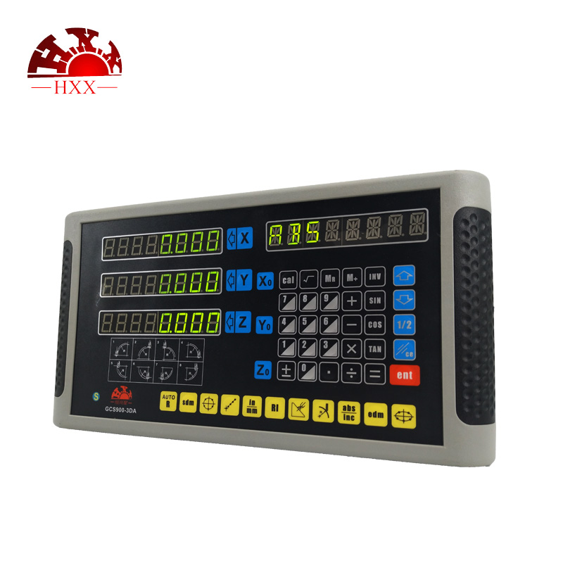 2018 HXX factory complete kit digital readout system GCS900-3D dro with 3 pcs linear glass scales/encoder for milling machine hxx high precision multifunction new dro set gcs900 2da and 2 pc linear glass scales 5u gcs898 50 1000mm for machines
