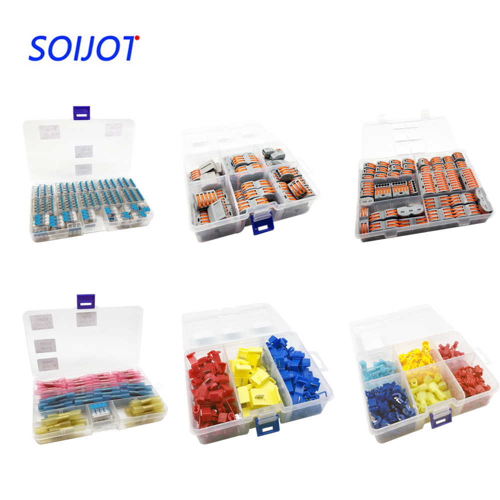 50pcs box 221 wago style mini fast wire connectors universal compact wiring connector  [ 1000 x 1000 Pixel ]