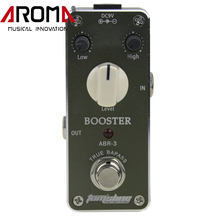 Aroma ABR-3 Mini Guitar Effects Booster Effect Pedal Overdrive Booster With Fasterner Tape