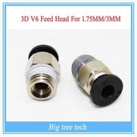 3D v6 междугородние j-главаend для фуршета 1,75 мм/3 мм 3d боуден экструдера 0.2/0.3/0.4/0.5 мм насадка для reprap 3d принтер