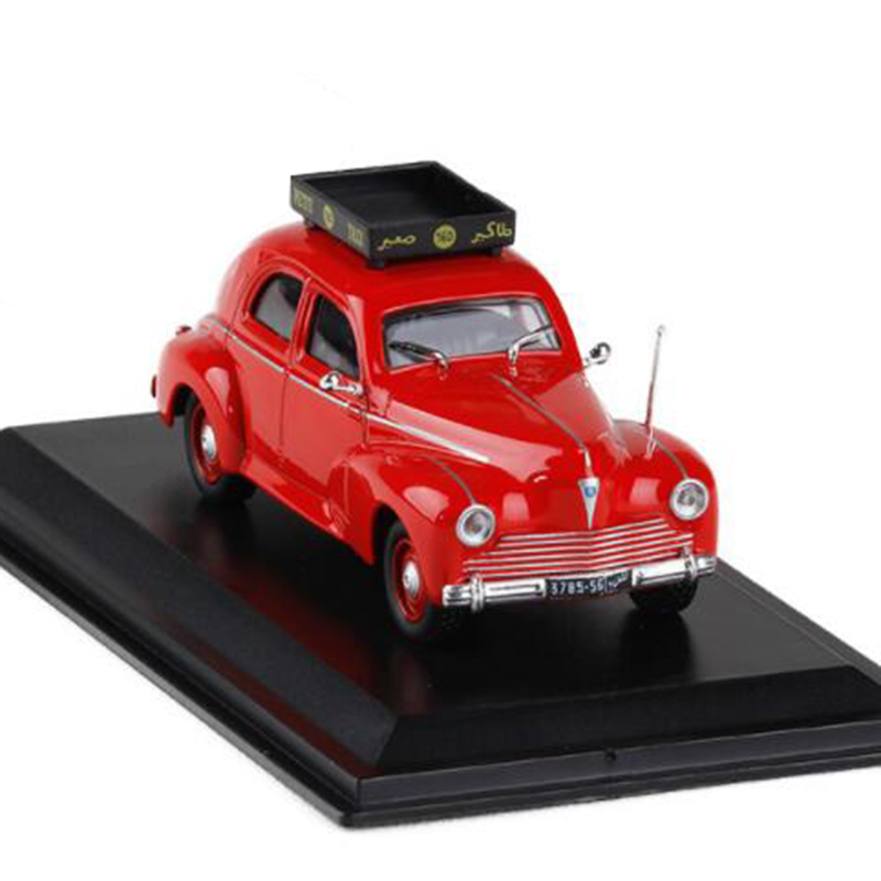 Red color <font><b>1</b></font>:<font><b>43</b></font> Scale Metal Alloy Classic <font><b>Peugeot</b></font> 203 casablanca 1960 cab Taxi <font><b>Car</b></font> <font><b>Model</b></font> Diecast Vehicles Toys F Collection image