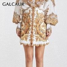 GALCAUR Beading Skirts New