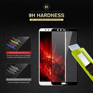 Image 3 - Cristal templado para Huawei Y9 Y6 Y7 Prime 2018 2019 2017 3D, Protector de pantalla para Huawei Honor 7C 7A Pro P Smart 2019 P20 Pro Lite