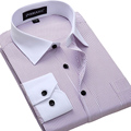 Big Size 4XL 5XL 6XL Fashion White Collar Striped Men Shirts Brand Design Chemise Homme High Quality Cotton Business Dress Shirt
