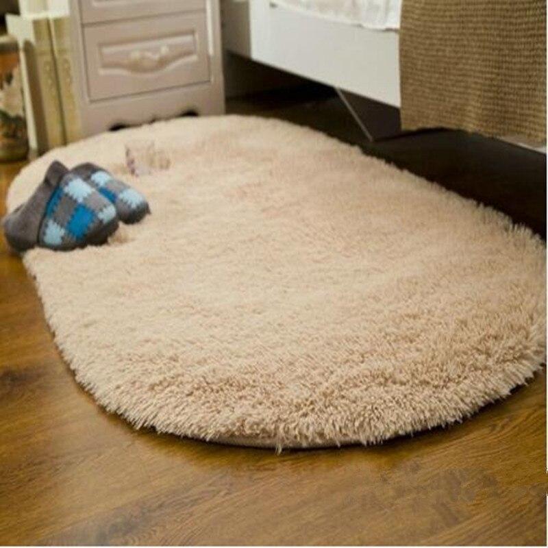 Long Oval Fluffy Sofa Cover Carpet Mat Faux Fur Area Rug