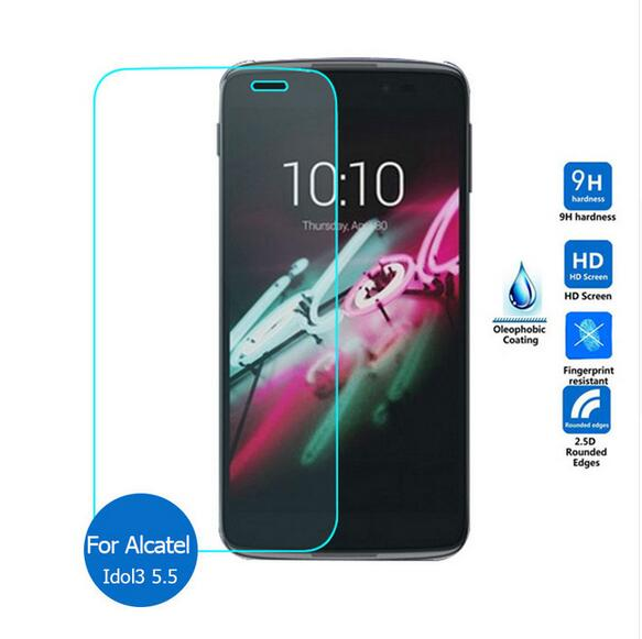 Tempered Glass For Alcatel One Touch Idol 3 5.5 inch / OneTouch Idol3 / 6045 6045K 6045Y Screen Protector Protective Film GuardTempered Glass For Alcatel One Touch Idol 3 5.5 inch / OneTouch Idol3 / 6045 6045K 6045Y Screen Protector Protective Film Guard