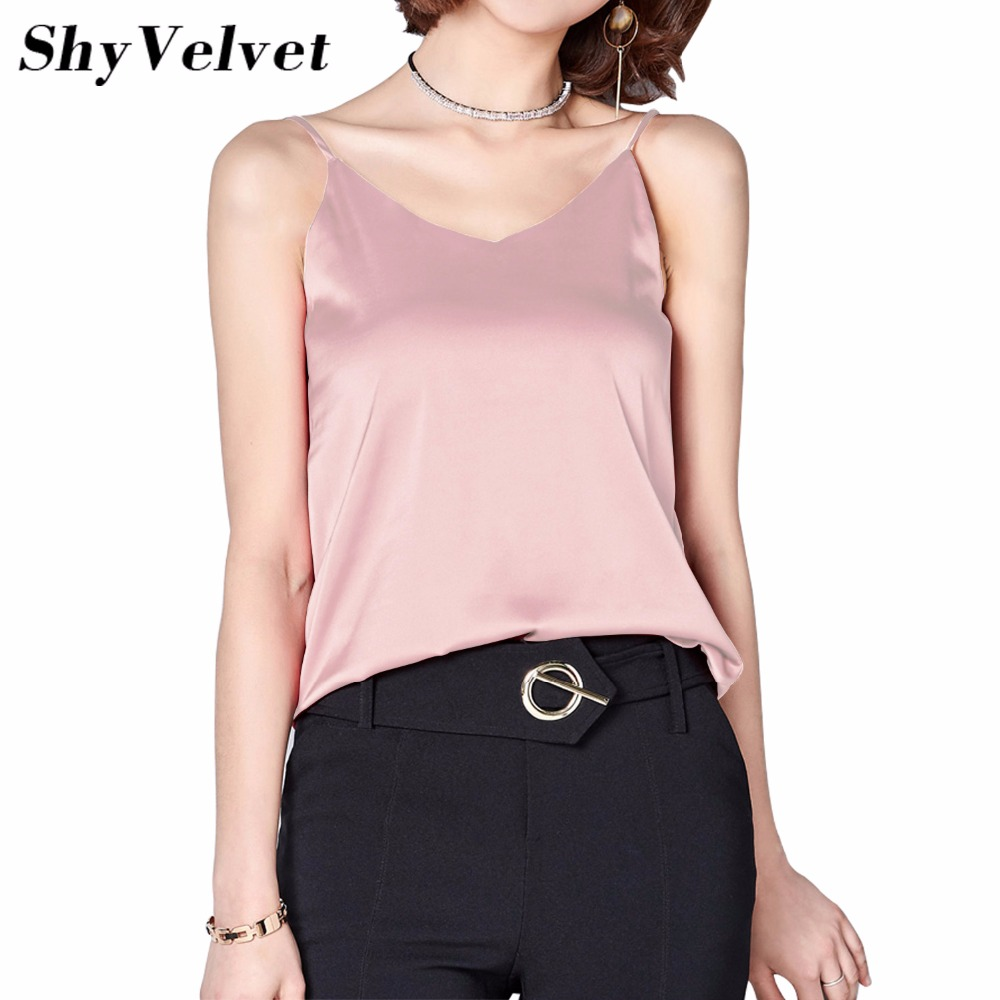 Camis Silk Halter Top Women Camisole 2017 Summer Style Sexy Sleeveless Vest Slim Tops Roupas Femininas Solid Pink Red White