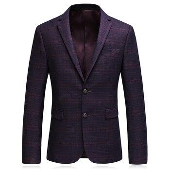 2019 Autumn New Style Blazer Men's Business Casual Suit Jacket Men's Single Breasted Coat Jacket Classic Stripe Blazer Men
