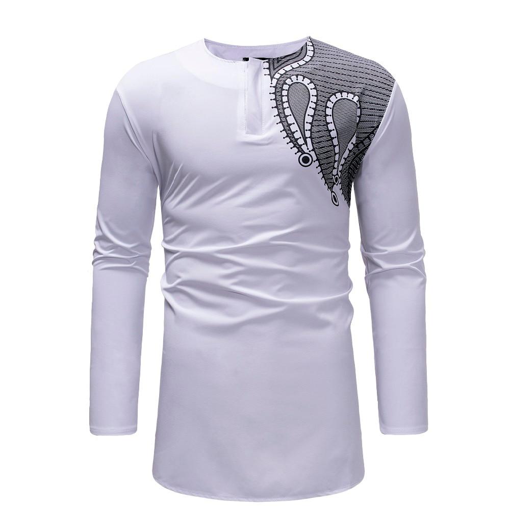 Longline Black T Shirt Men 2018 Hipster African style Dashiki Mens T-shirts Casual Slim Long Sleeve Streetwear Hip Hop Tshirts (4)