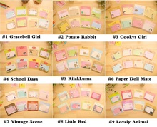 36pcs/lot Cute Cartoon 9 series Memo Pad Paper Sticker Stationery Office Accessories School Supplies