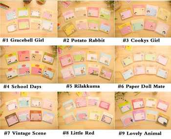 36pcs/lot Cute Cartoon 9 series Cartoon Memo Pad Paper Sticker Stationery Office Accessories School Supplies - DISCOUNT ITEM  32% OFF All Category