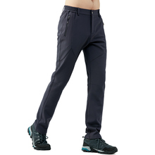 Outdoor Soft shell Pants Men and Women Autumn Winter Thickening Waterproof Softshell Trousers