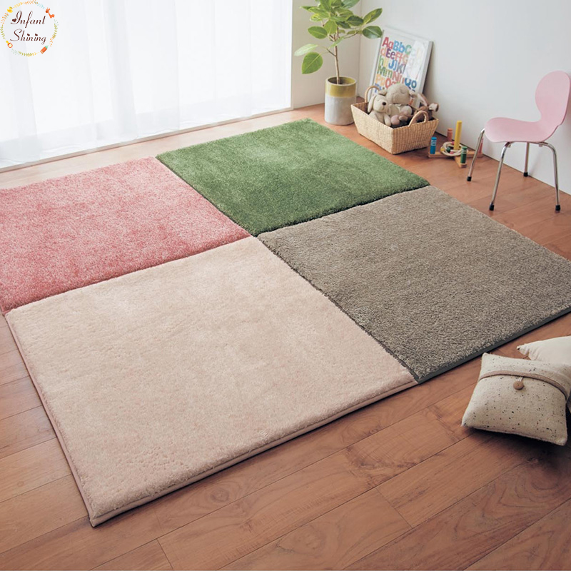 Infant Shining Carpet Mat Pad Sitting Room Tea Table