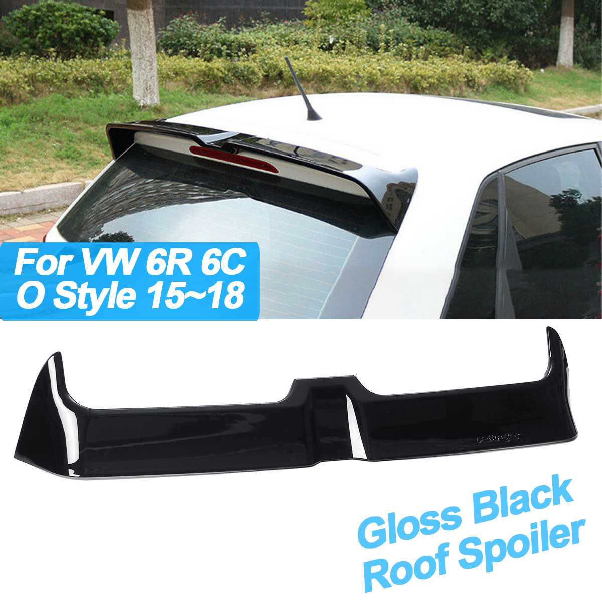ABS Gloss Black Rear Trunk Roof Spoiler Wing for Volkswagen 6R 6C O Style 2015-2018 Window Tail Wings BlackABS Gloss Black Rear Trunk Roof Spoiler Wing for Volkswagen 6R 6C O Style 2015-2018 Window Tail Wings Black