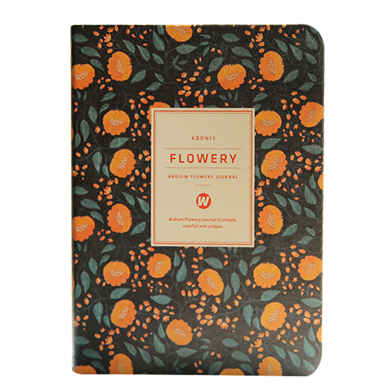 Flower Planner Notebook Notepad weekly plan Diary Calendar student schedule weekly schedule Journal Stationery yellow flowers calendar 2017 a5 calendar handbook of efficiency for industry and commerce business notepad log can be customized logo