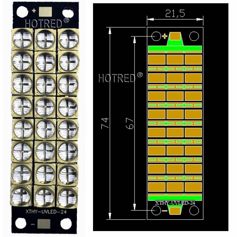 Le plus nouveau 200W-240watts haute puissance LED lampe UV violet 6565 Epi LED s puce 395-400nm COB ampoules diode LED module violet encre imprimante 3D